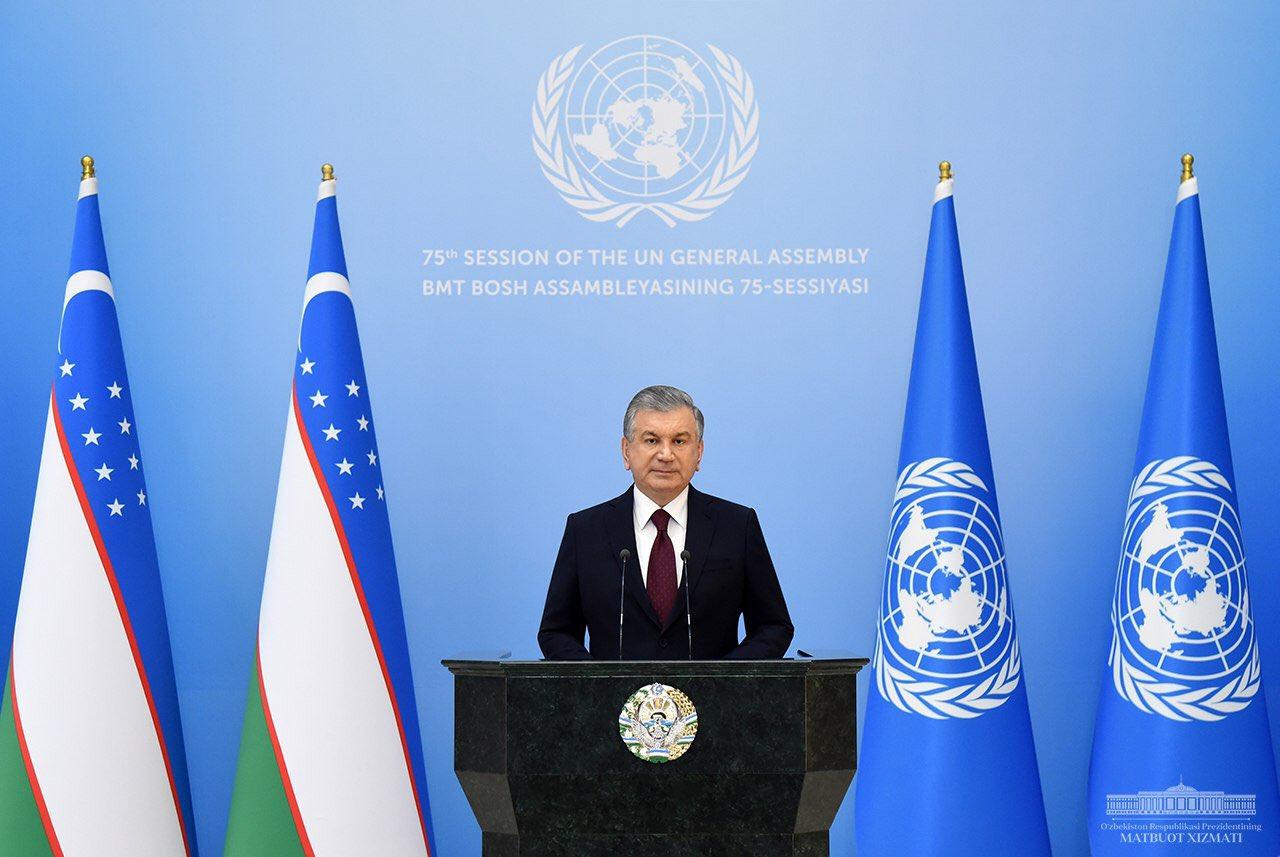 Mirziyoyev UN 2020